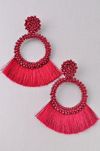Rowdy - Red Beaded Tassel