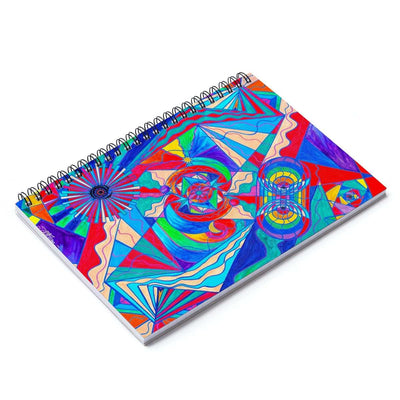 Pleiadian Restore Harmony Light Work Model - Spiral Notebook