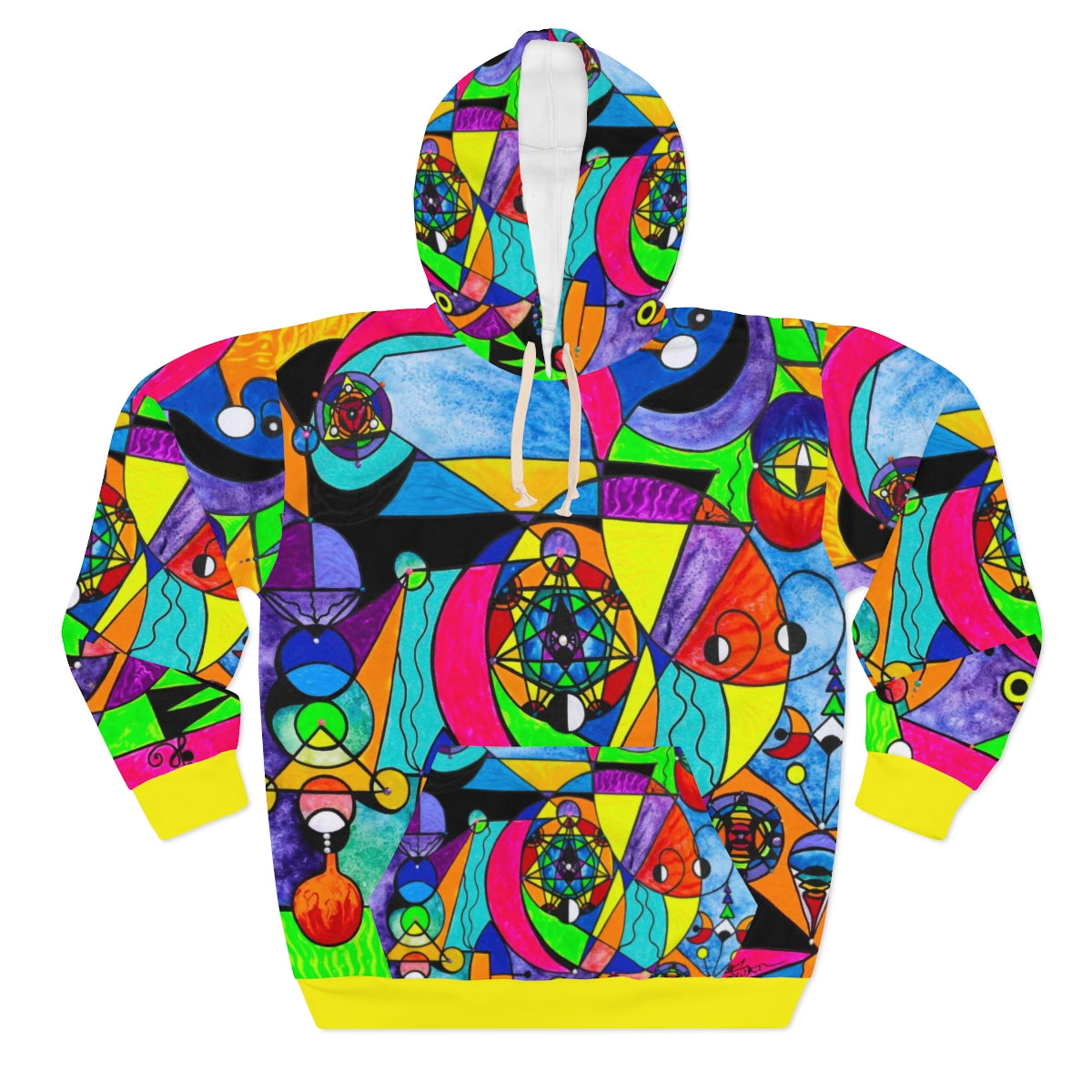 The Power Lattice-AOP Unisex Pullover Hoodie
