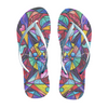 Blue Ray Self Love Grid - Unisex Flip-Flops