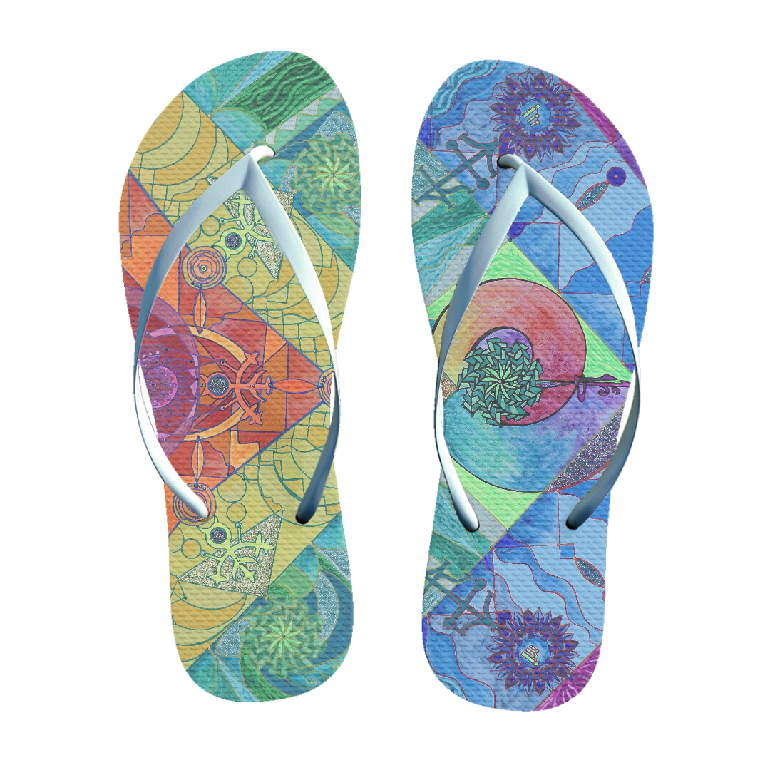 Expansion Pleiadian Lightwork Model - Unisex Flip-Flops