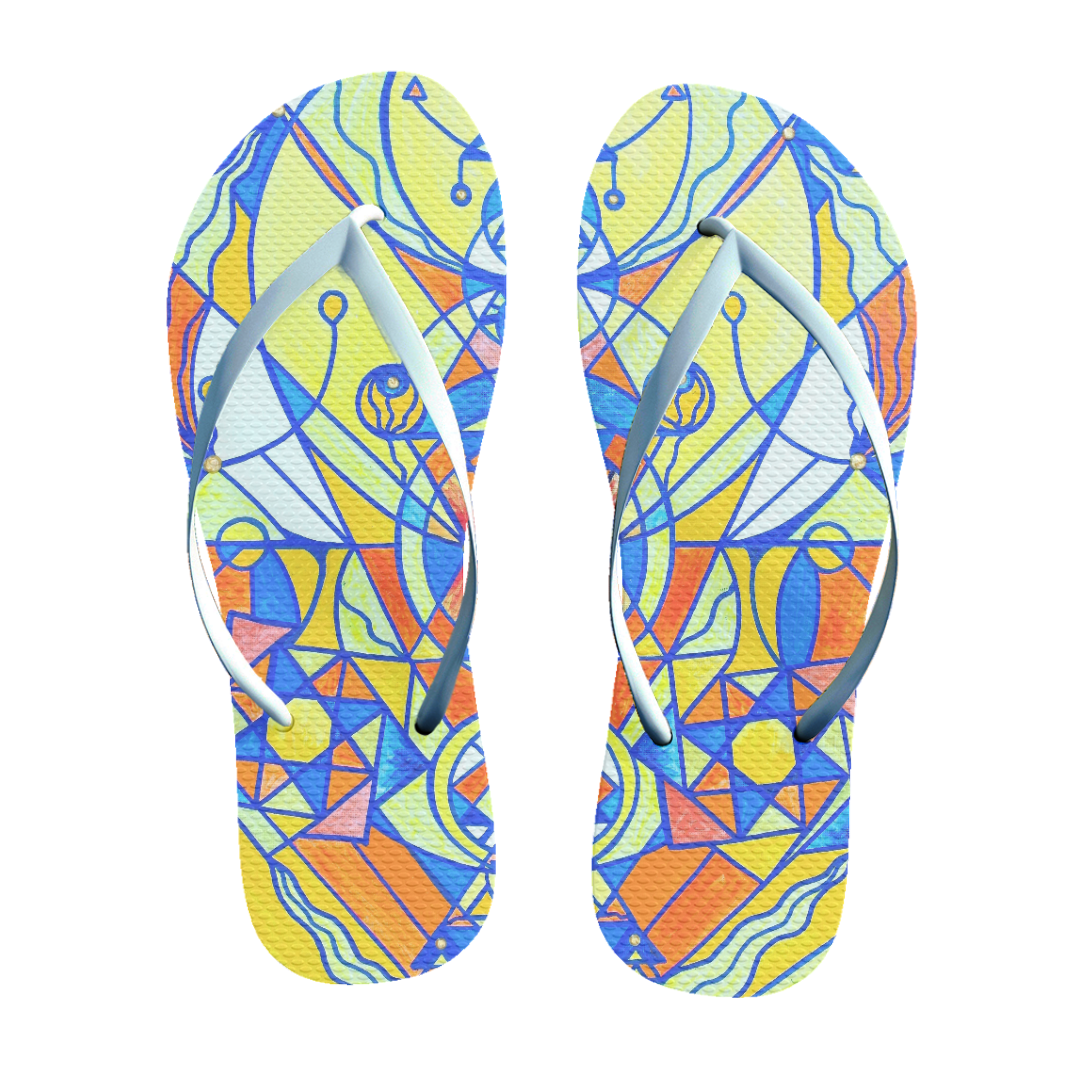 Happiness Pleiadian Lightwork Model - Unisex Flip-Flops