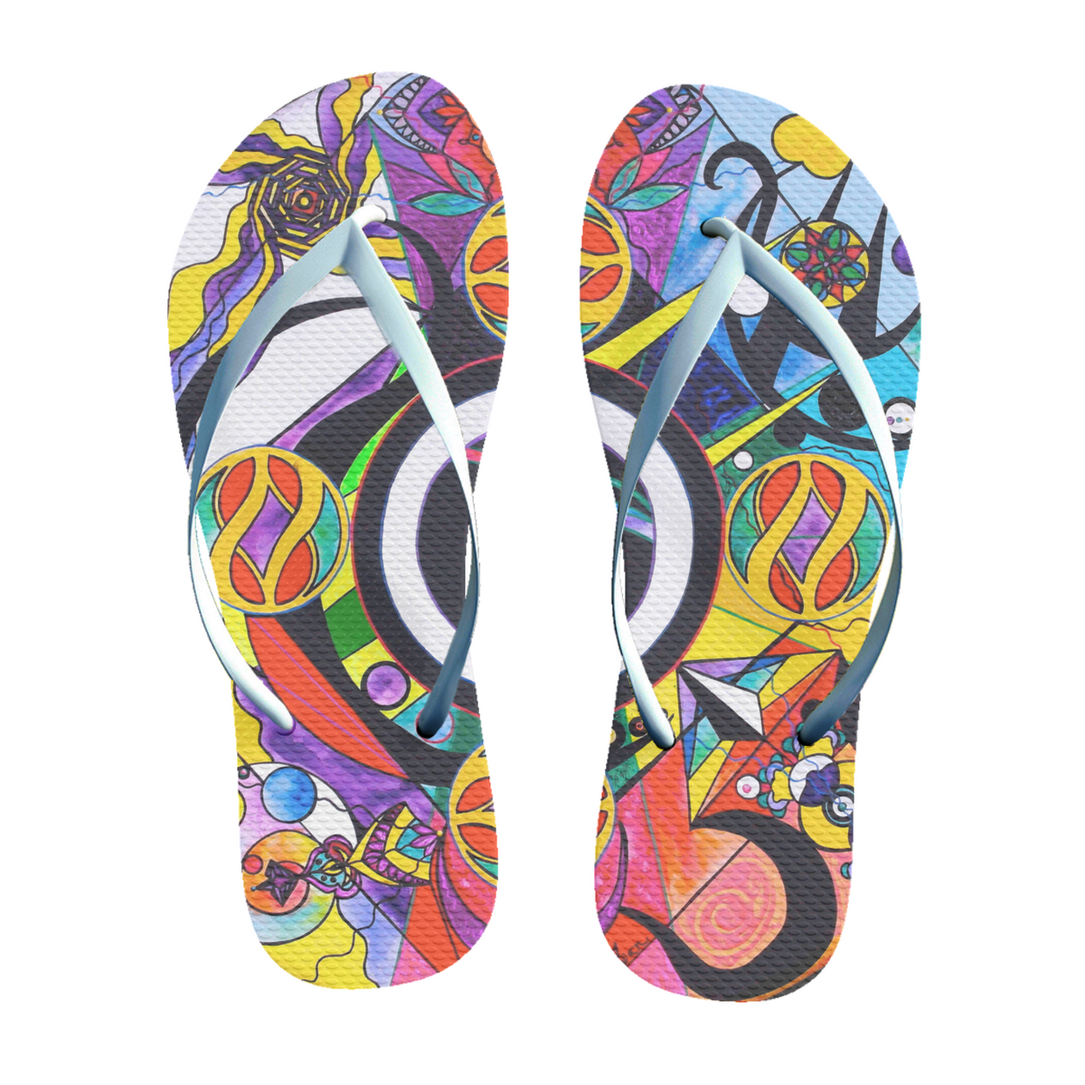 Self Esteem Matrix - Unisex Flip-Flops