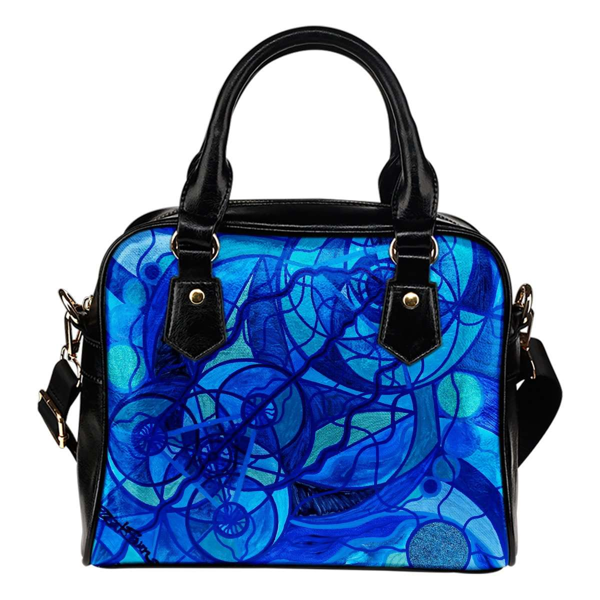 Arcturian Calming Grid - Vegan Shoulder Handbag