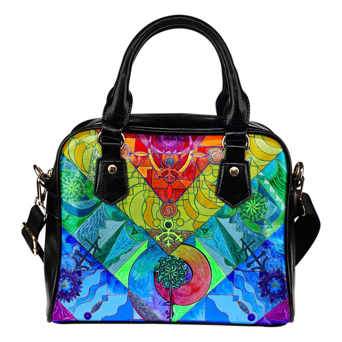 Expanze Pleiadian Lightwork Model-Vegan Shoulder Handbag