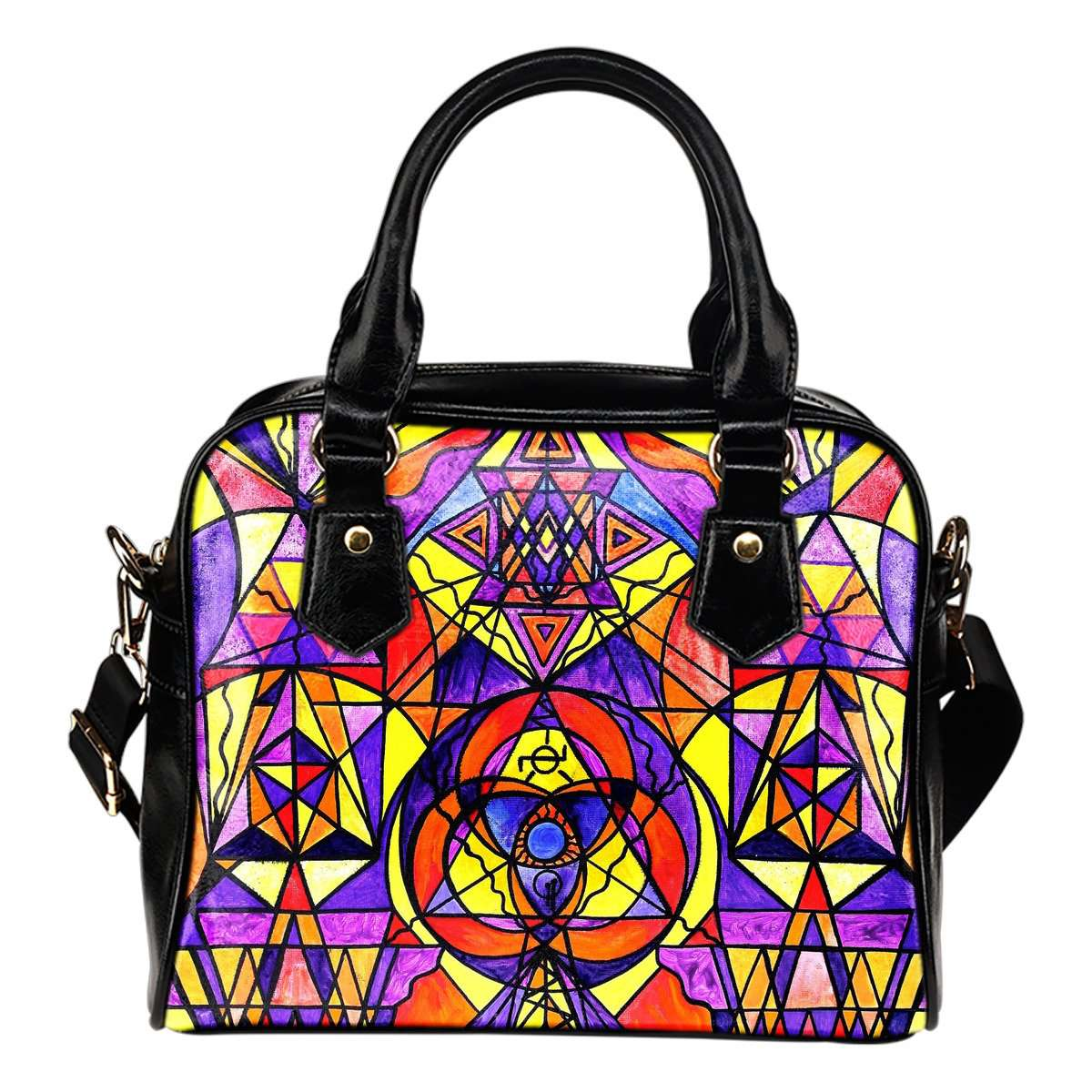 The Destiny Grid - Vegan Shoulder Handbag