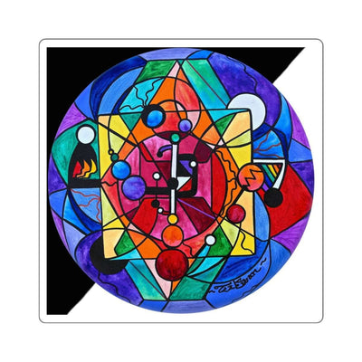 Arcturian Divine Order Grid - Square Stickers