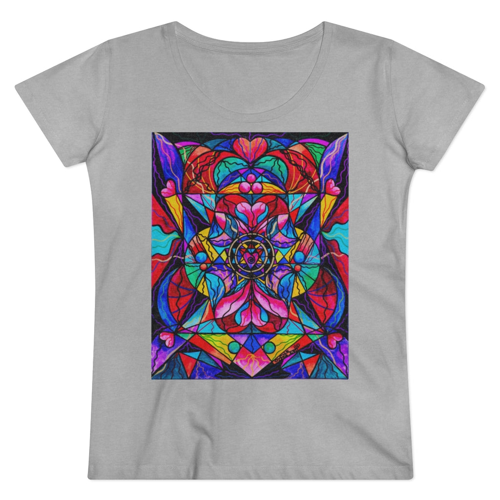Blue Ray Self Love Grid - Organic Women's Lover T-shirt