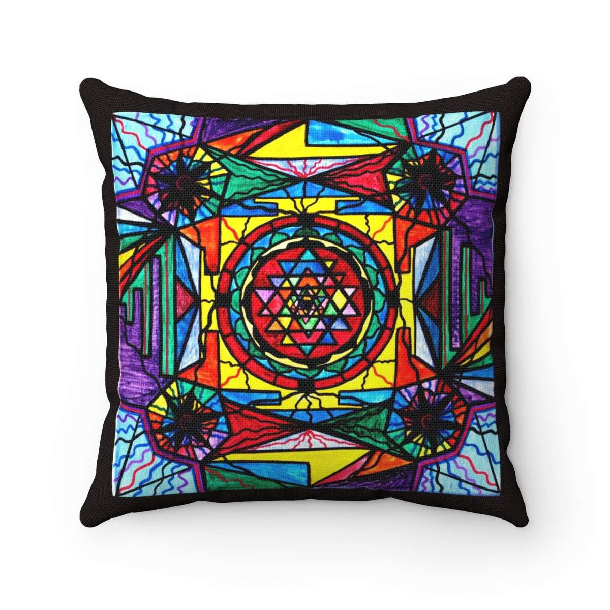 Sri Yantra - Spun Polyester Square Pillow