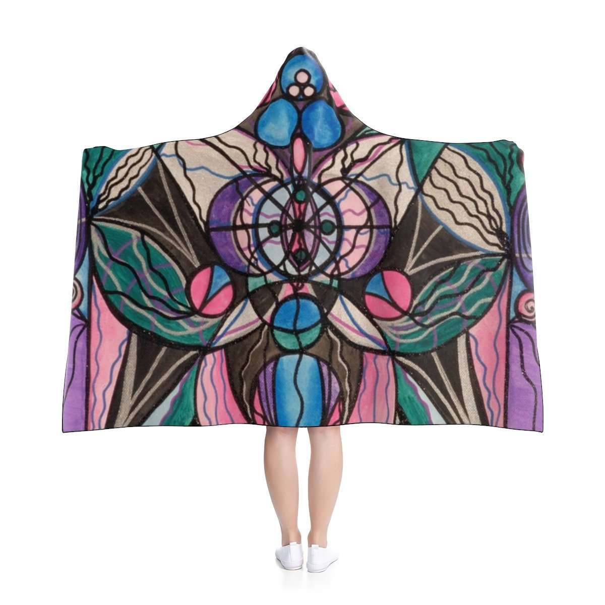 Arcturian Healing Lattice - Hooded Blanket