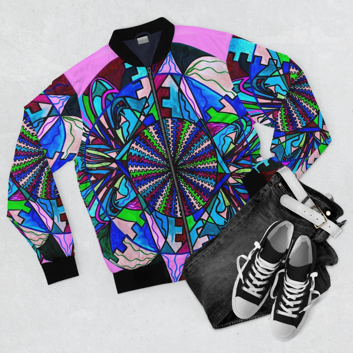 Pleiadian Integration Lightwork Model-Bomber Jacket