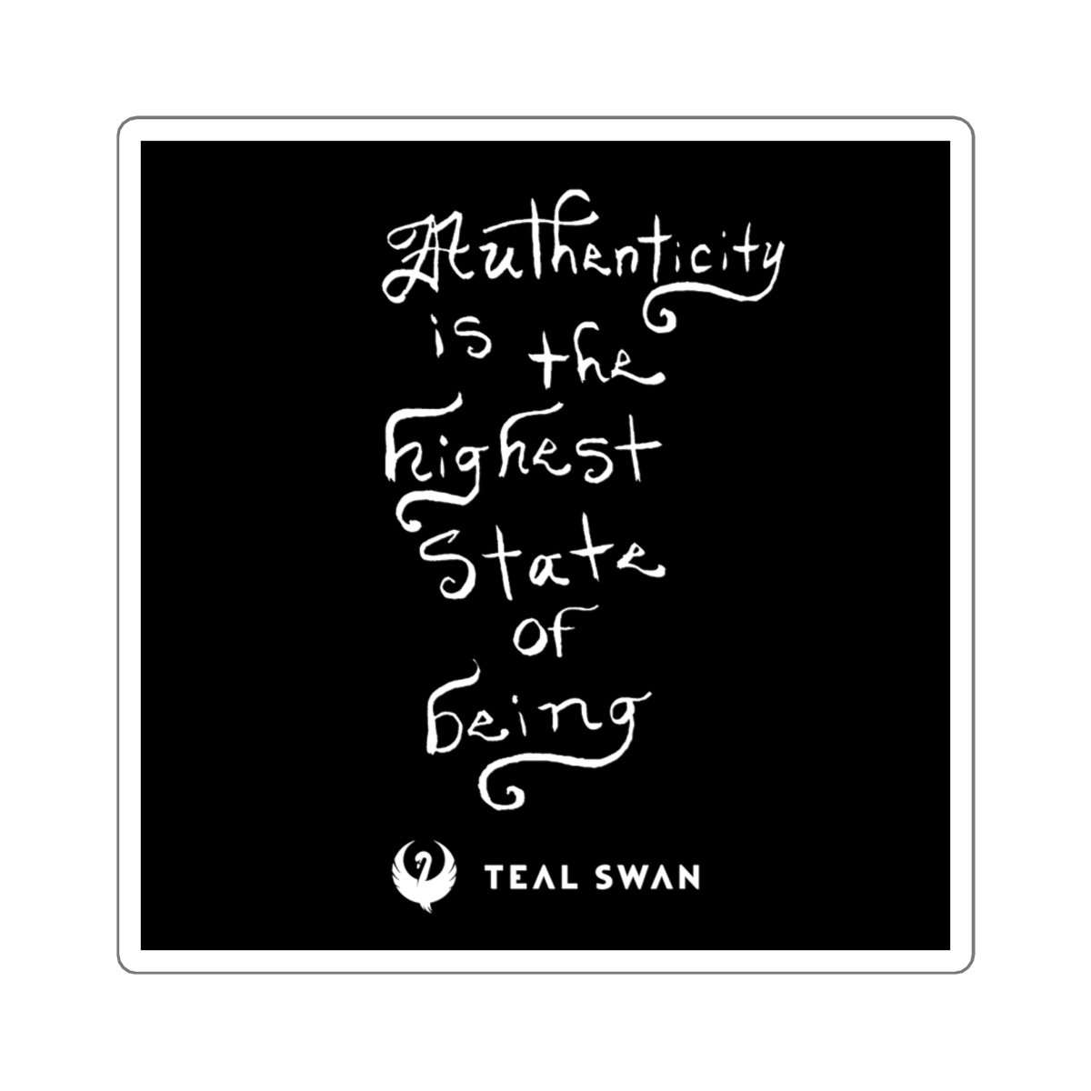 Authenticity Is Quote - Square Stickers
