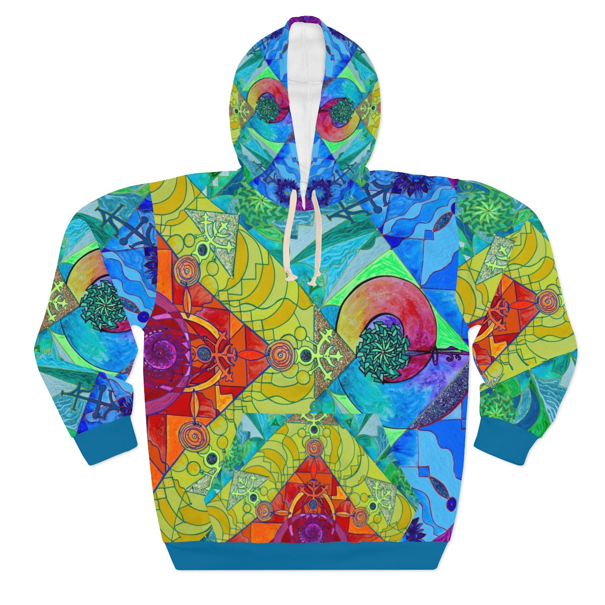 Pleiadian Expansion Lightwork Model - AOP Unisex Pullover Hoodie