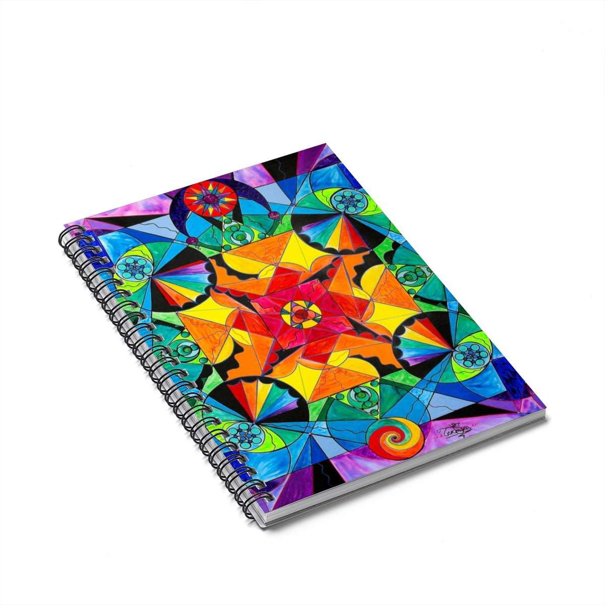 The Way - Arcturian Blue Ray Grid - Spiral Notebook