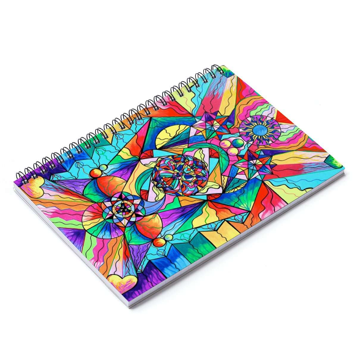 Blue Ray Transcendence Grid - Spiral Notebook