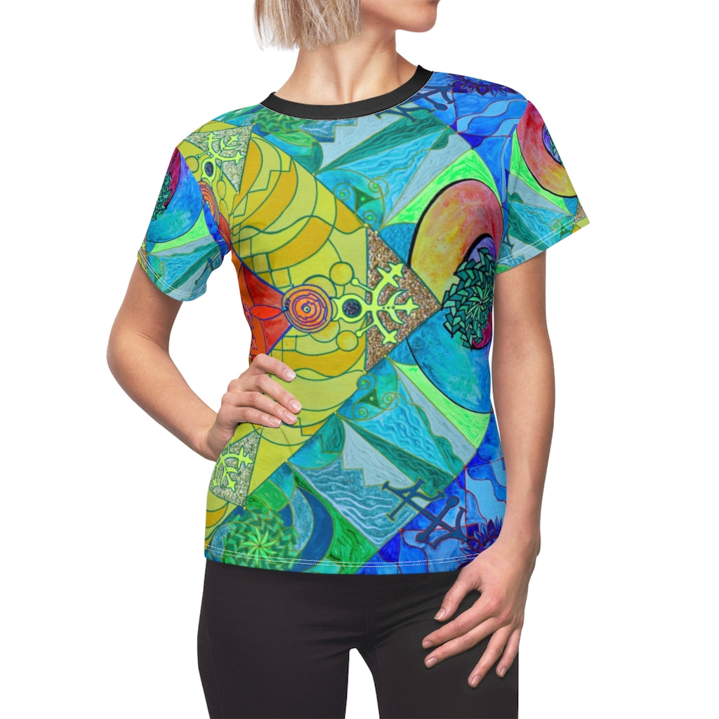 Expansion Pleiadian Lightwork Model - Women's AOP Cut & Sew Tee