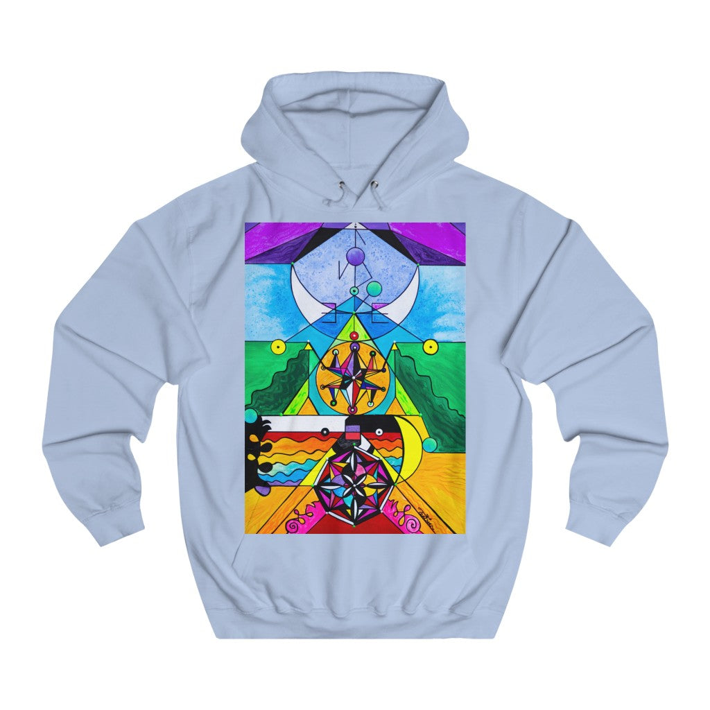 Manifestation Lightwork Model - Unisex College Hoodie