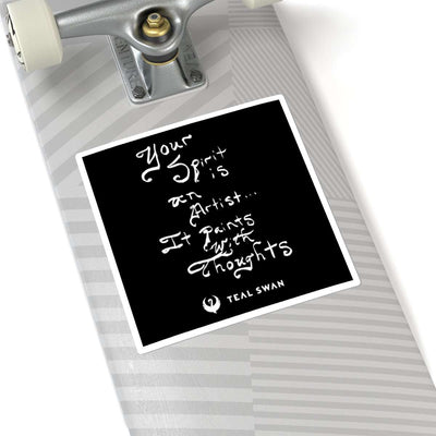 Spirit Is Quote - Square Stickers