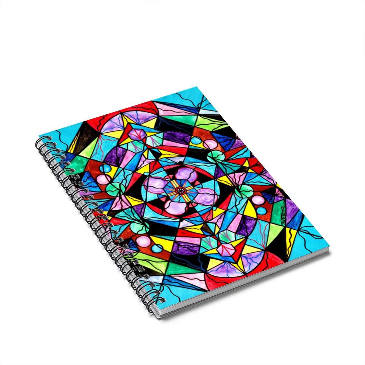Sacred Geometry Grid - Spiral Notebook