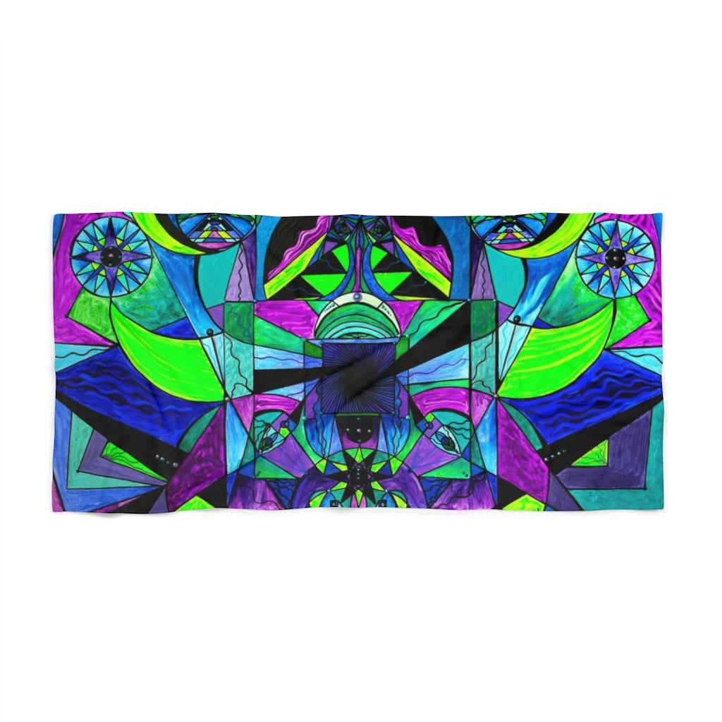 Arcturian Astral Travel Grid - Beach Towel