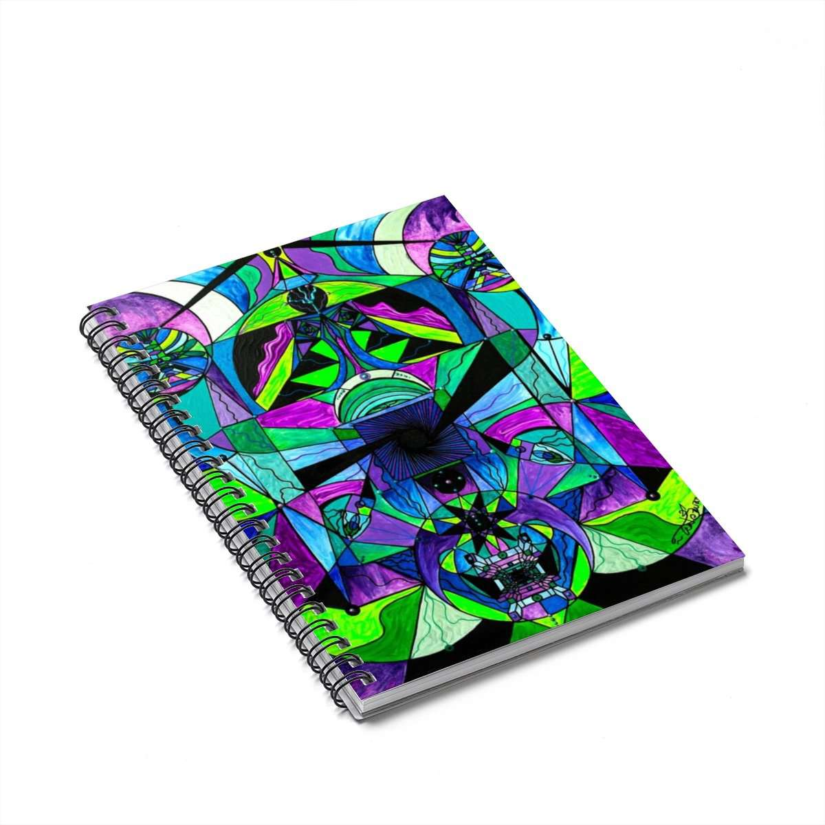 Arcturian Astral Travel Grid - Spiral Notebook