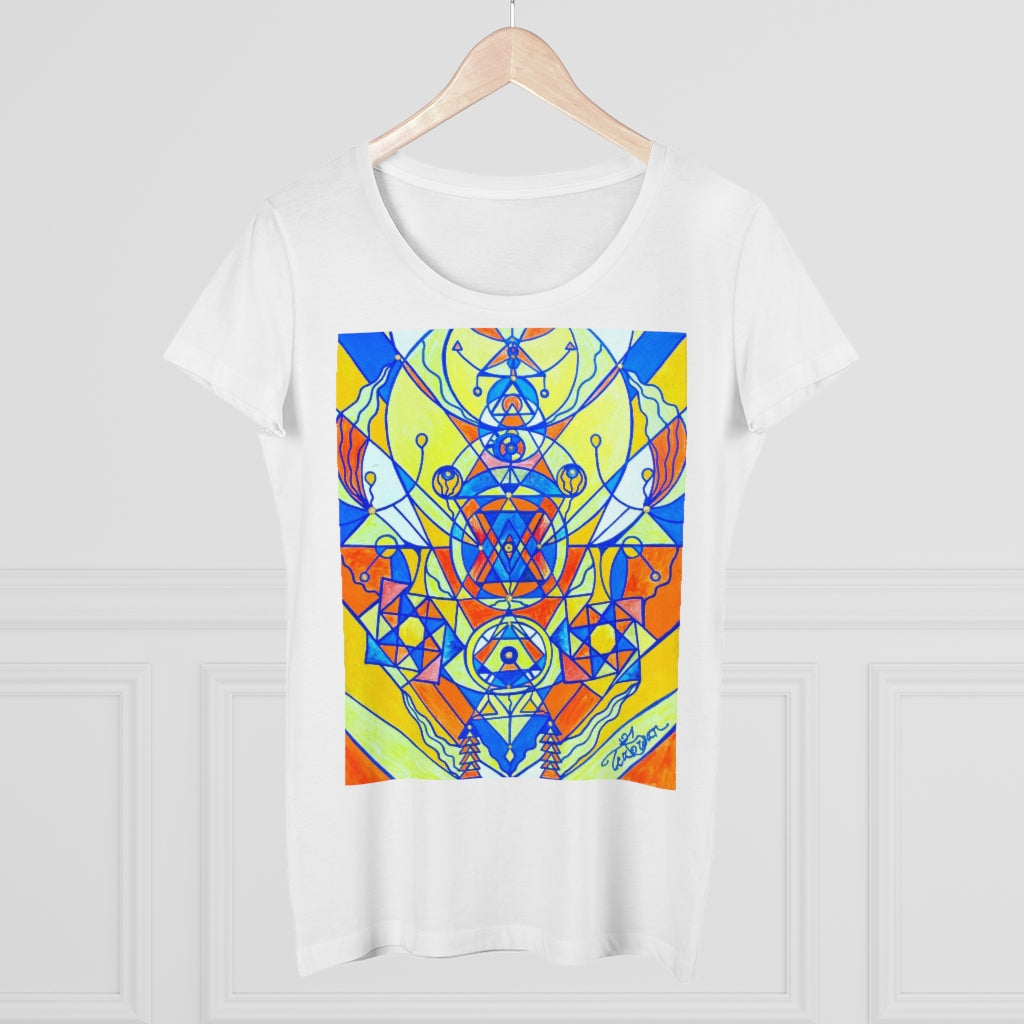 Happiness Pleiadian Lightwork Model - Organic Women's Lover T-shirt