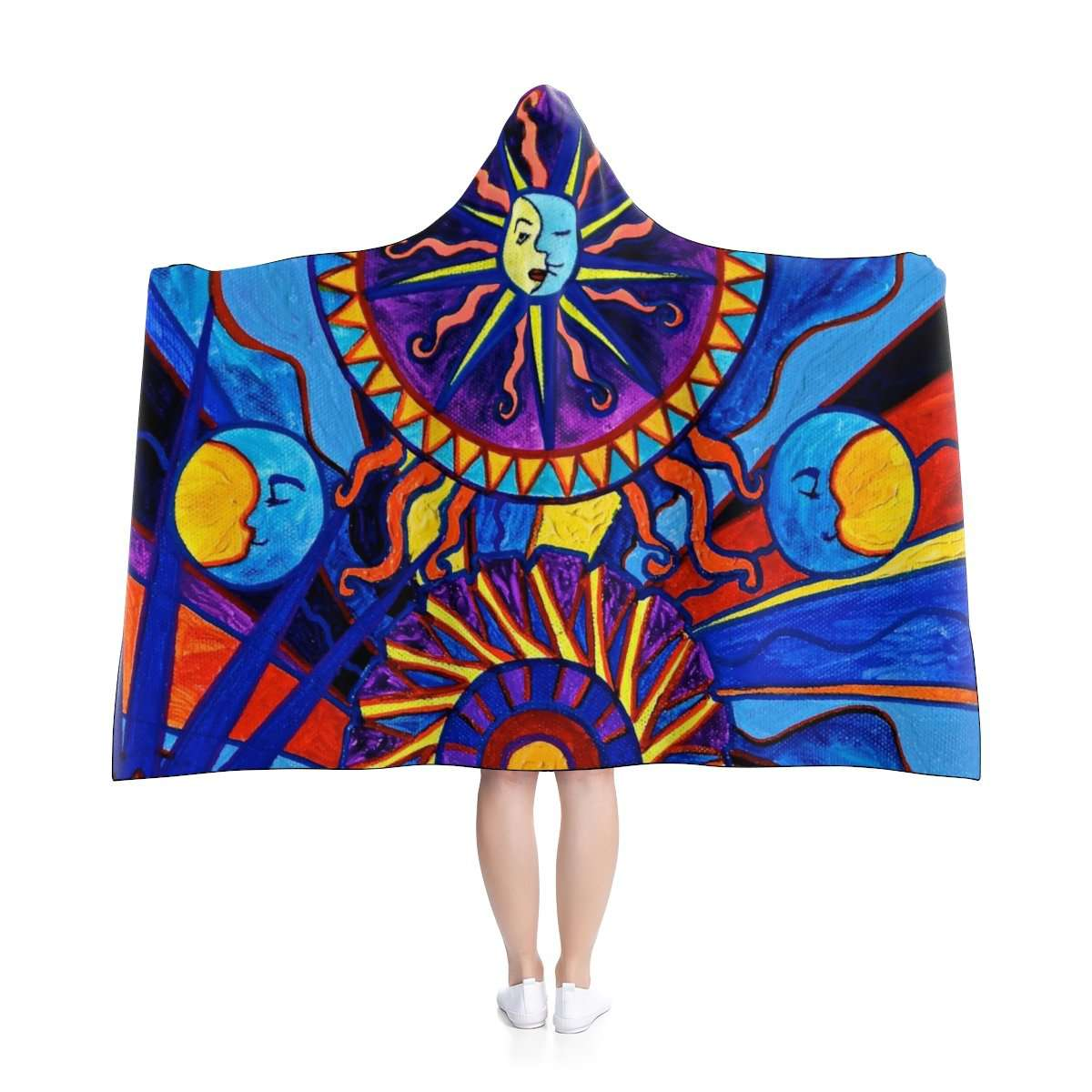 Sun and Moon - Hooded Blanket