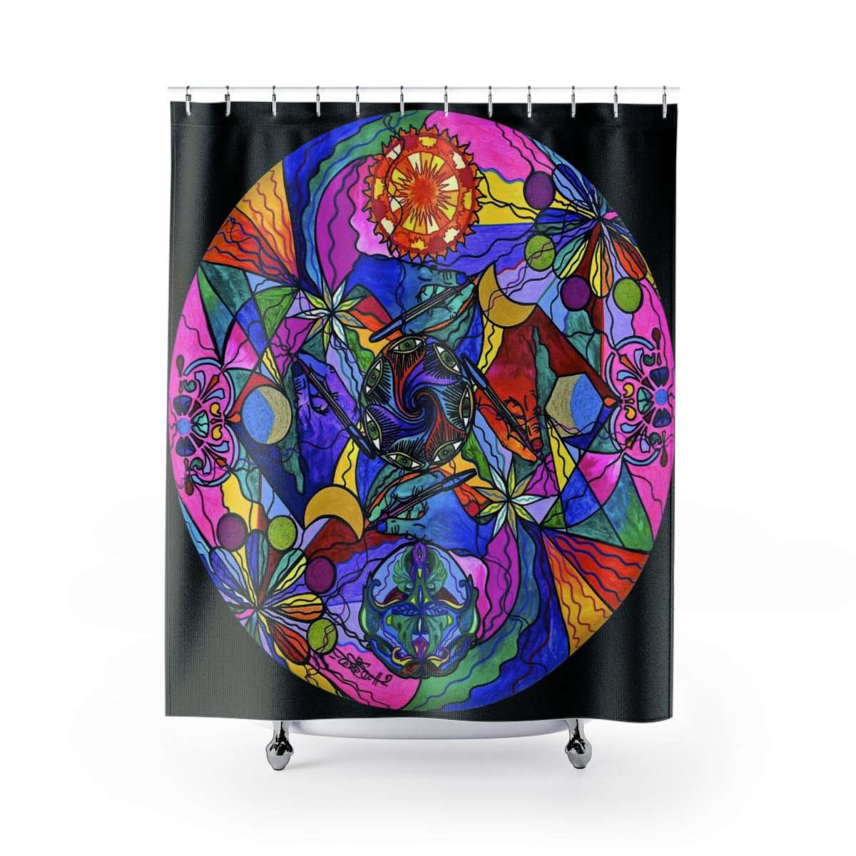 Awakened Poet - Shower Curtains