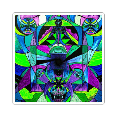 Arcturian Astral Travel Grid - Square Stickers