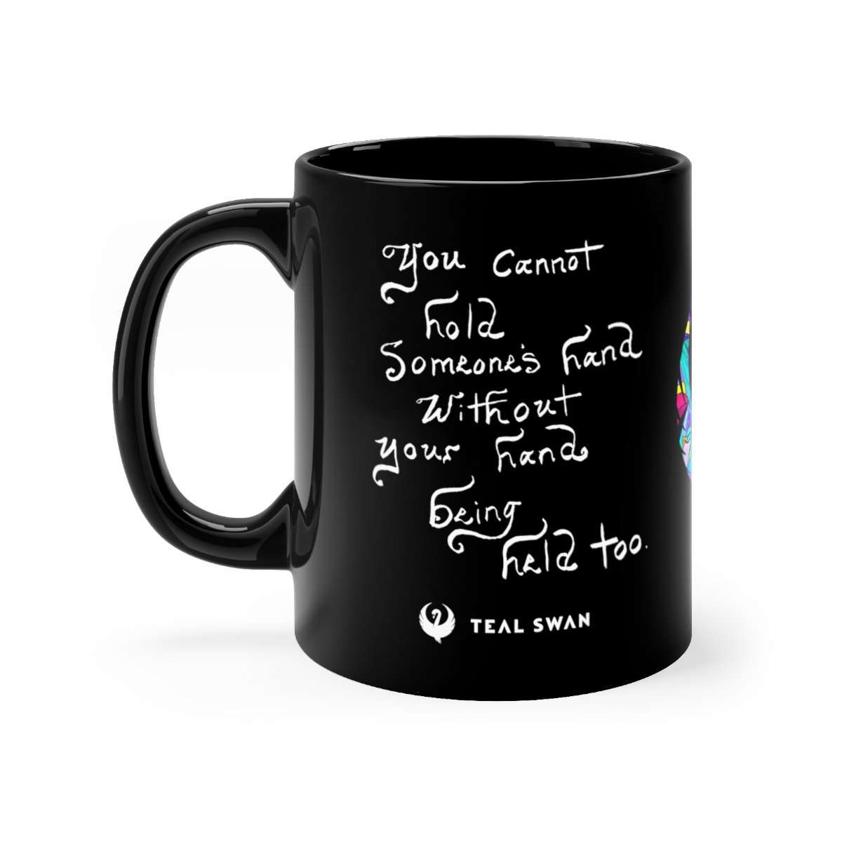 Hand Being Held Quote - Black mug 11oz