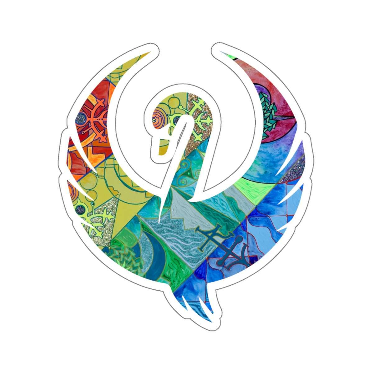 Expansion Pleiadian Lightwork Model - Swan Stickers