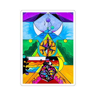 Manifestation Lightwork Model - Square Stickers
