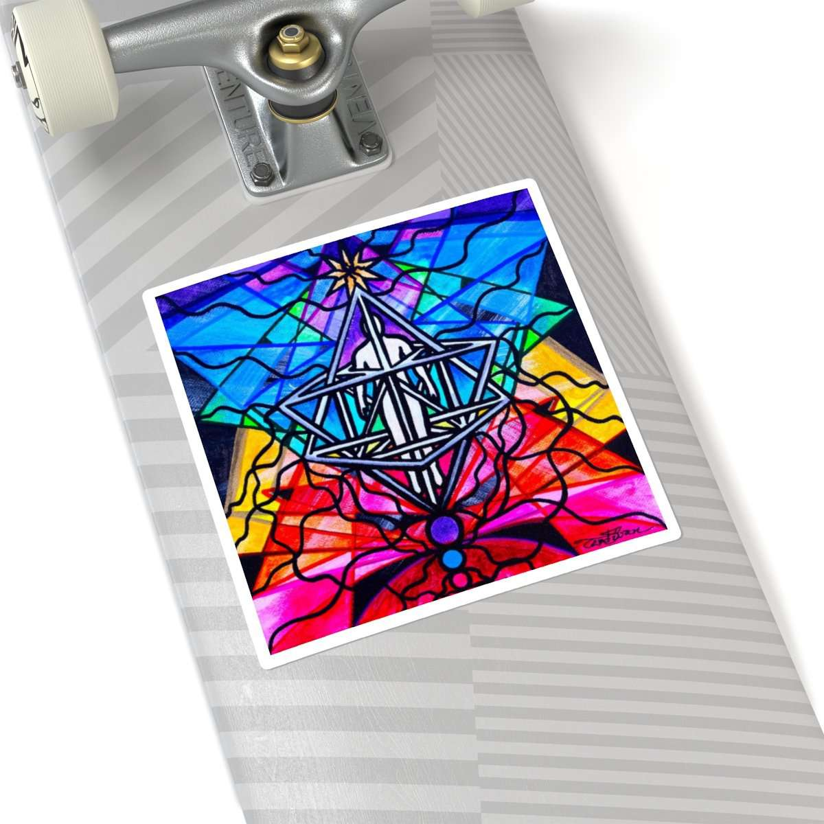 Merkabah - Square Stickers