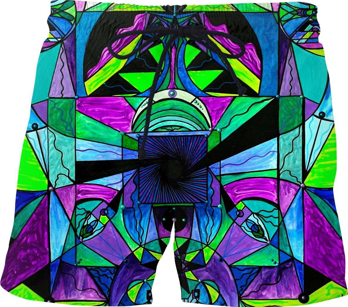 Arcturian Astral Travel Grid - Swim Shorts