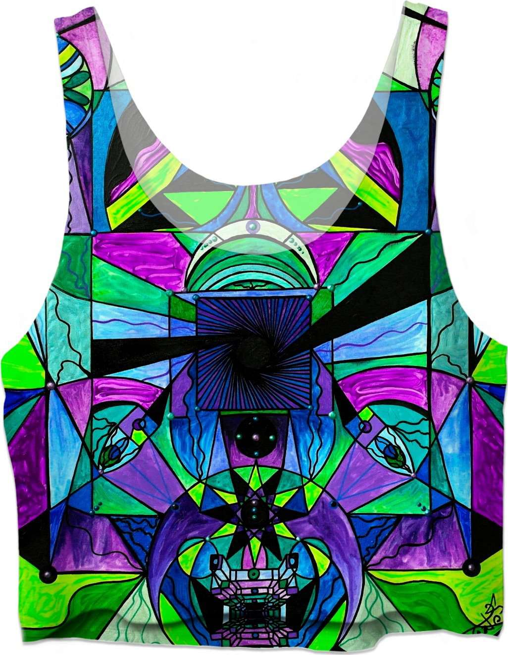 Arcturian Astral Travel Grid - Crop Top