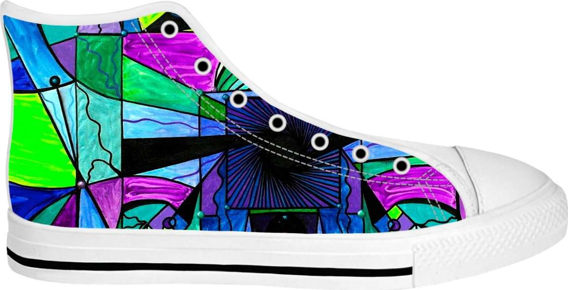 Arcturian Astral Travel Grid - White High Tops