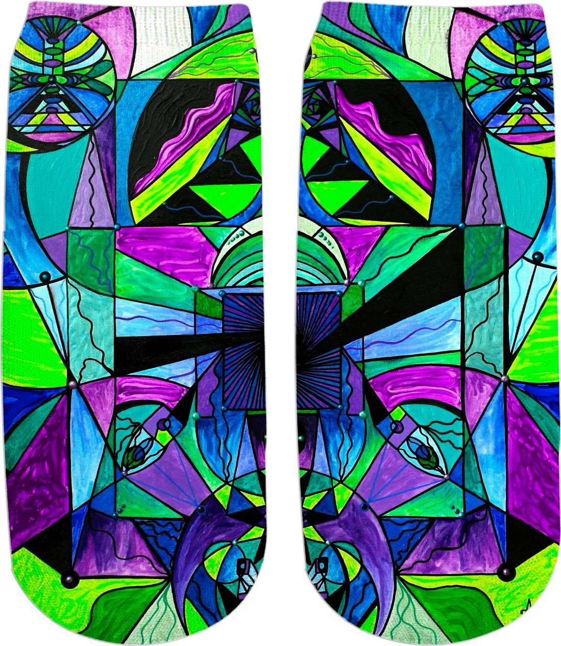 Arcturian Astral Travel Grid - Ankle Socks