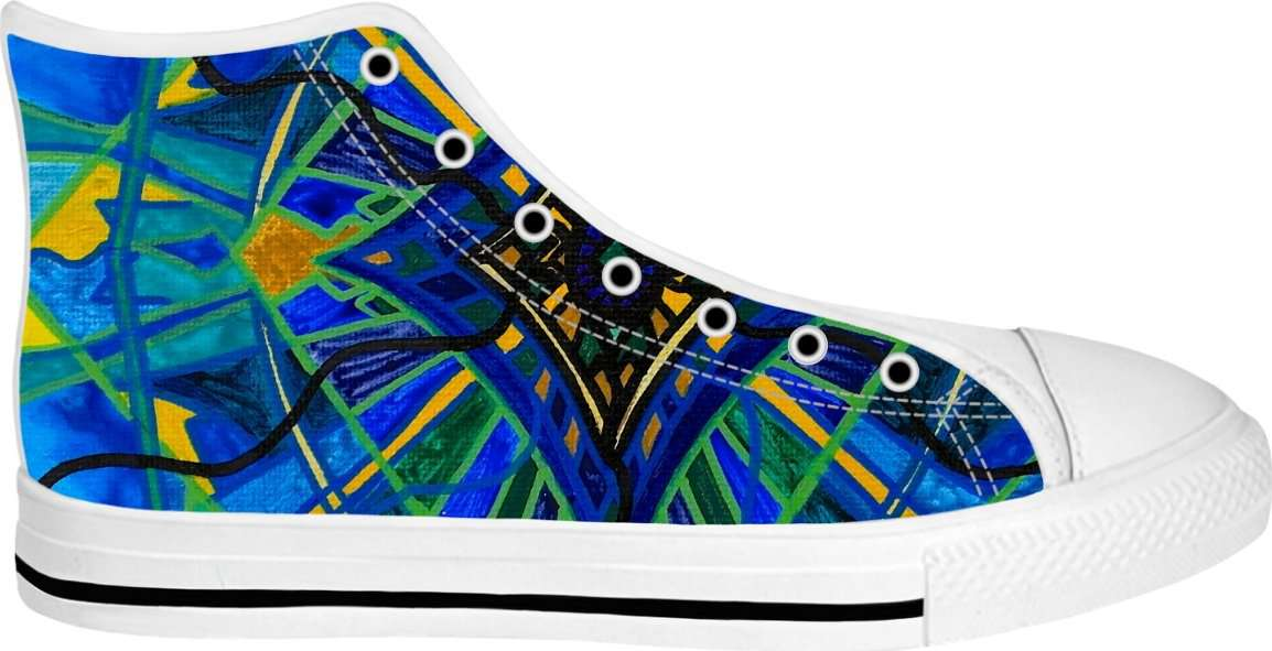 Emotional Expression - White High Tops