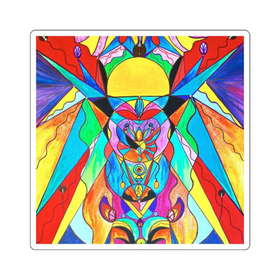 Arcturian Metamorphosis Grid - Square Stickers