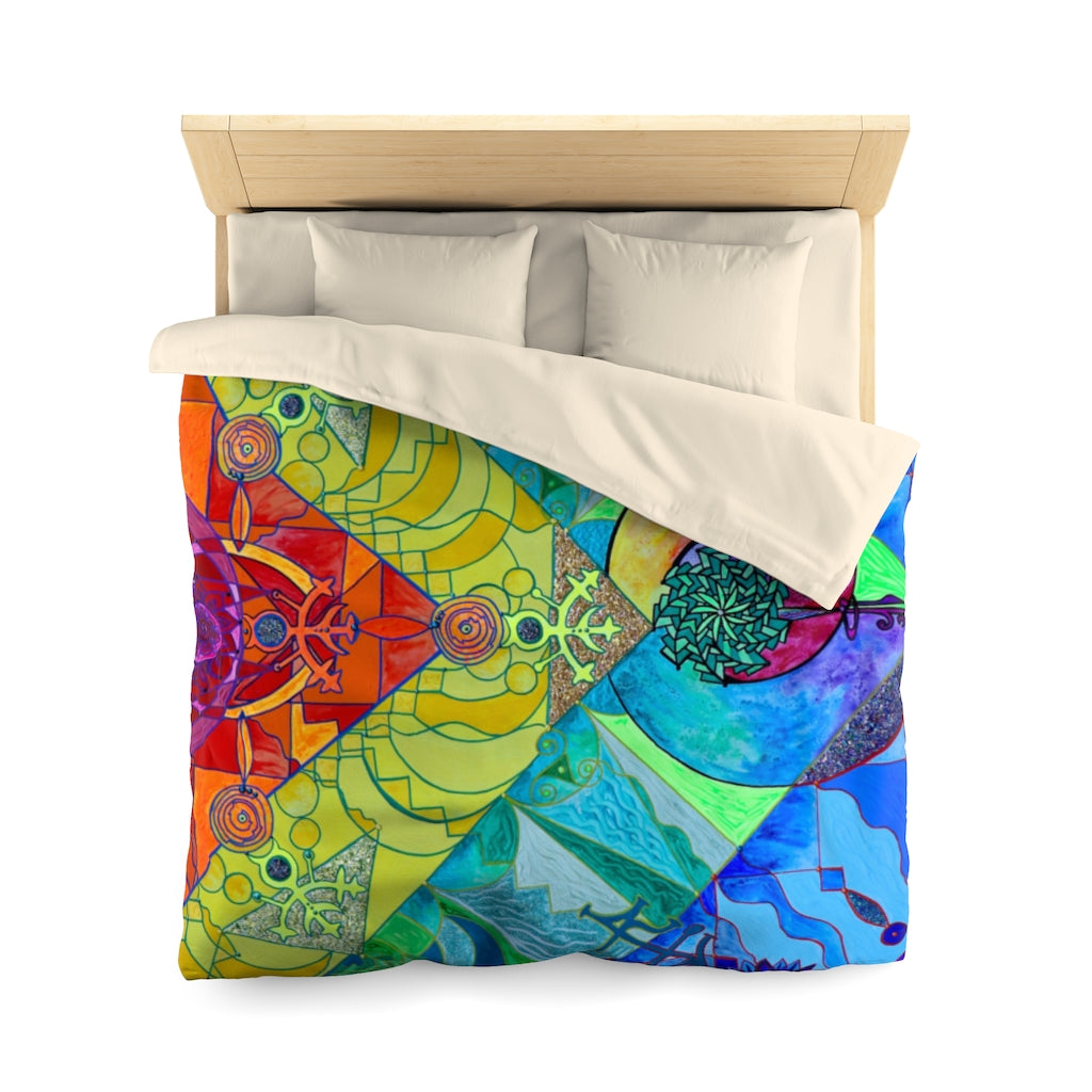 Expansion Pleiadian Lightwork Model - Microfiber Duvet Cover