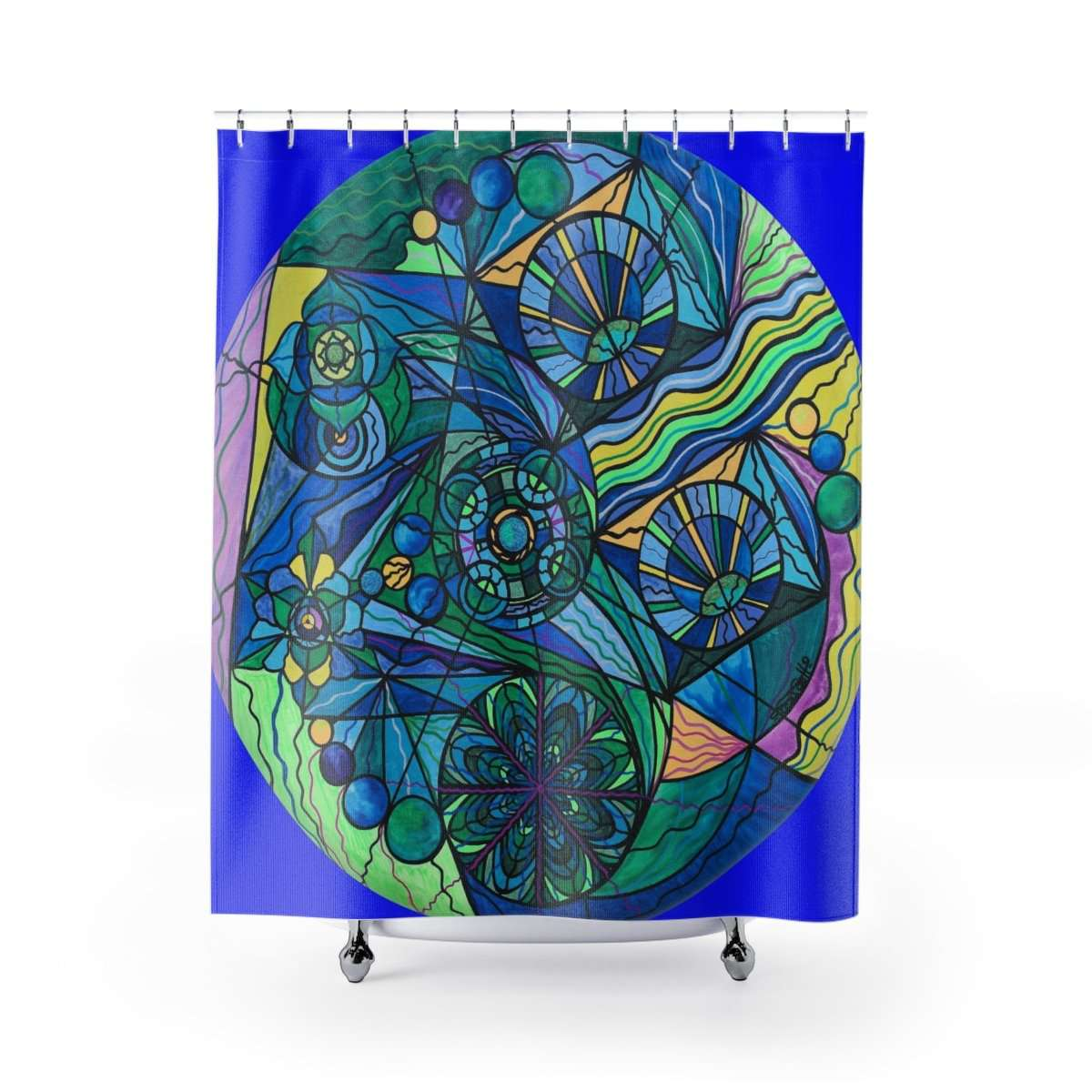 Arcturian Immunity Grid - Shower Curtains