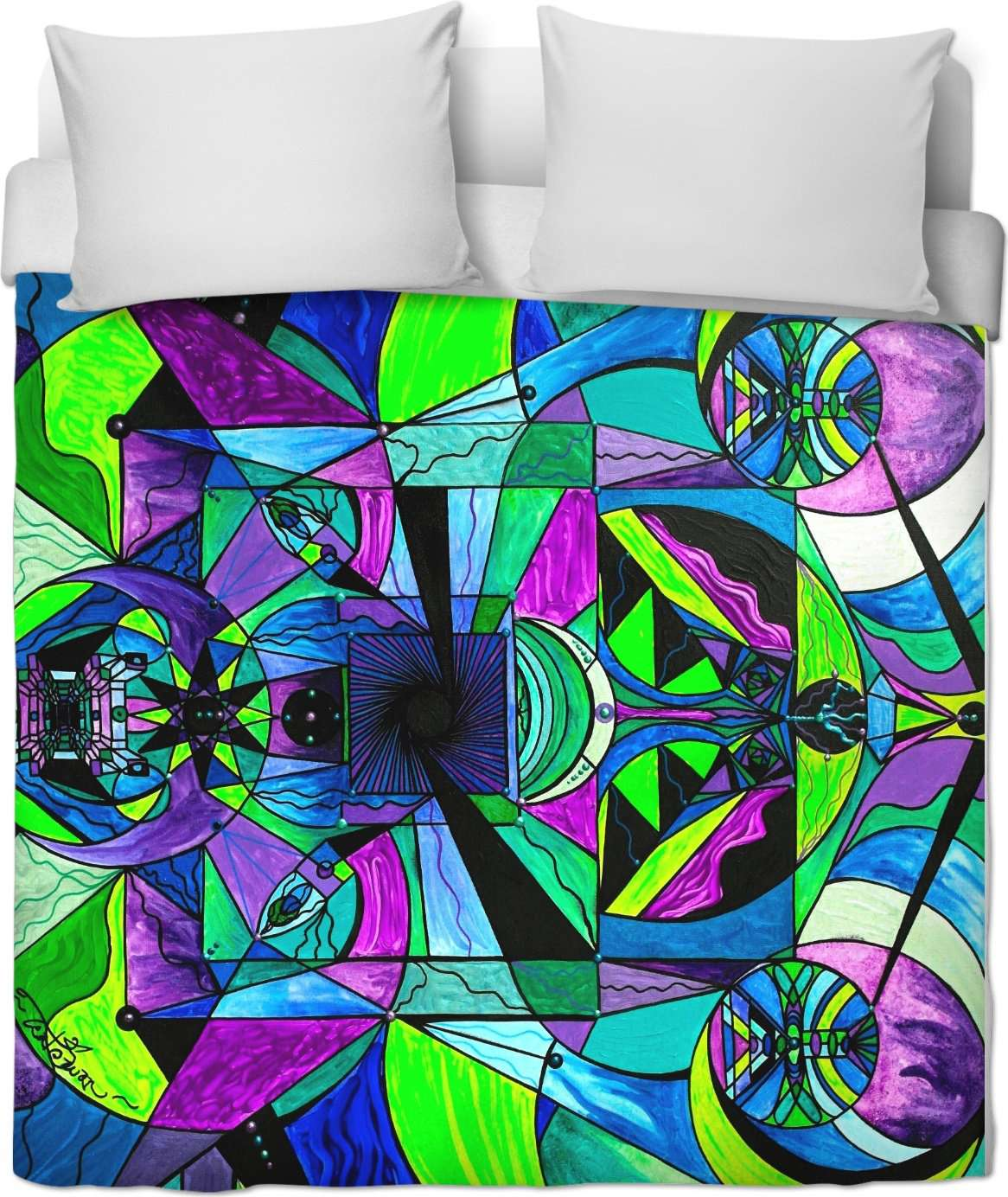 Arcturian Astral Travel Grid - Duvet Cover