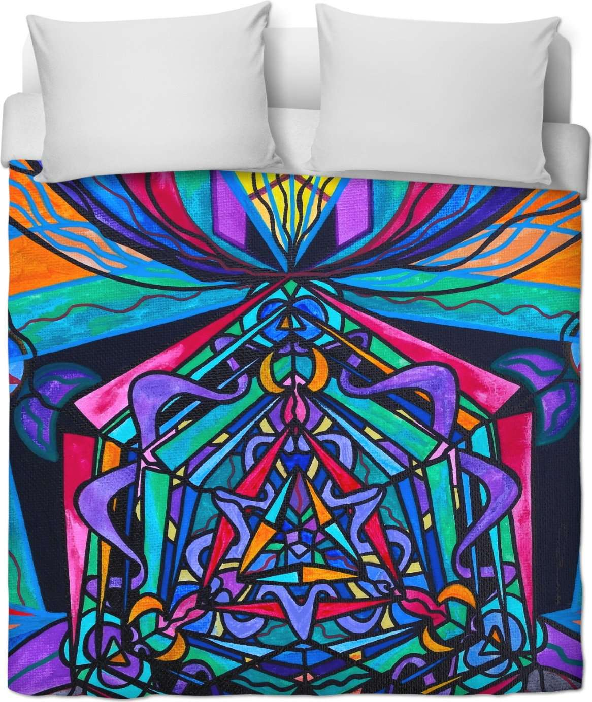 Pleiadian Coherence Lightwork Model - Duvet Cover