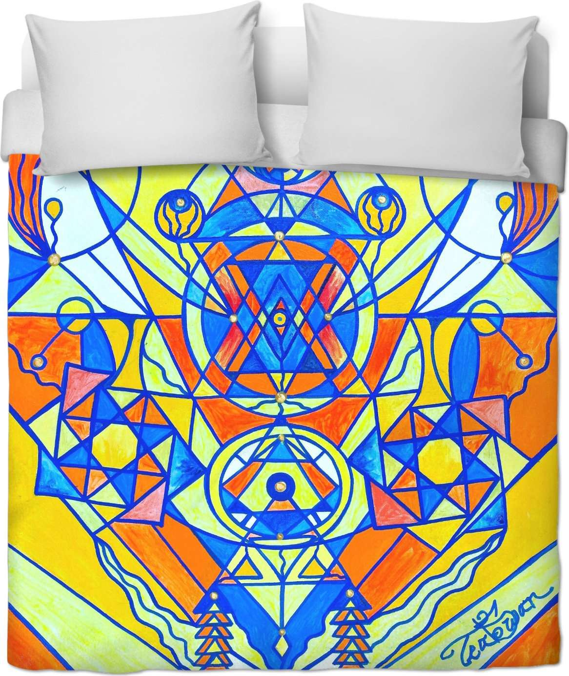 Happiness Pleiadian Lightwork Model - Duvet Cover