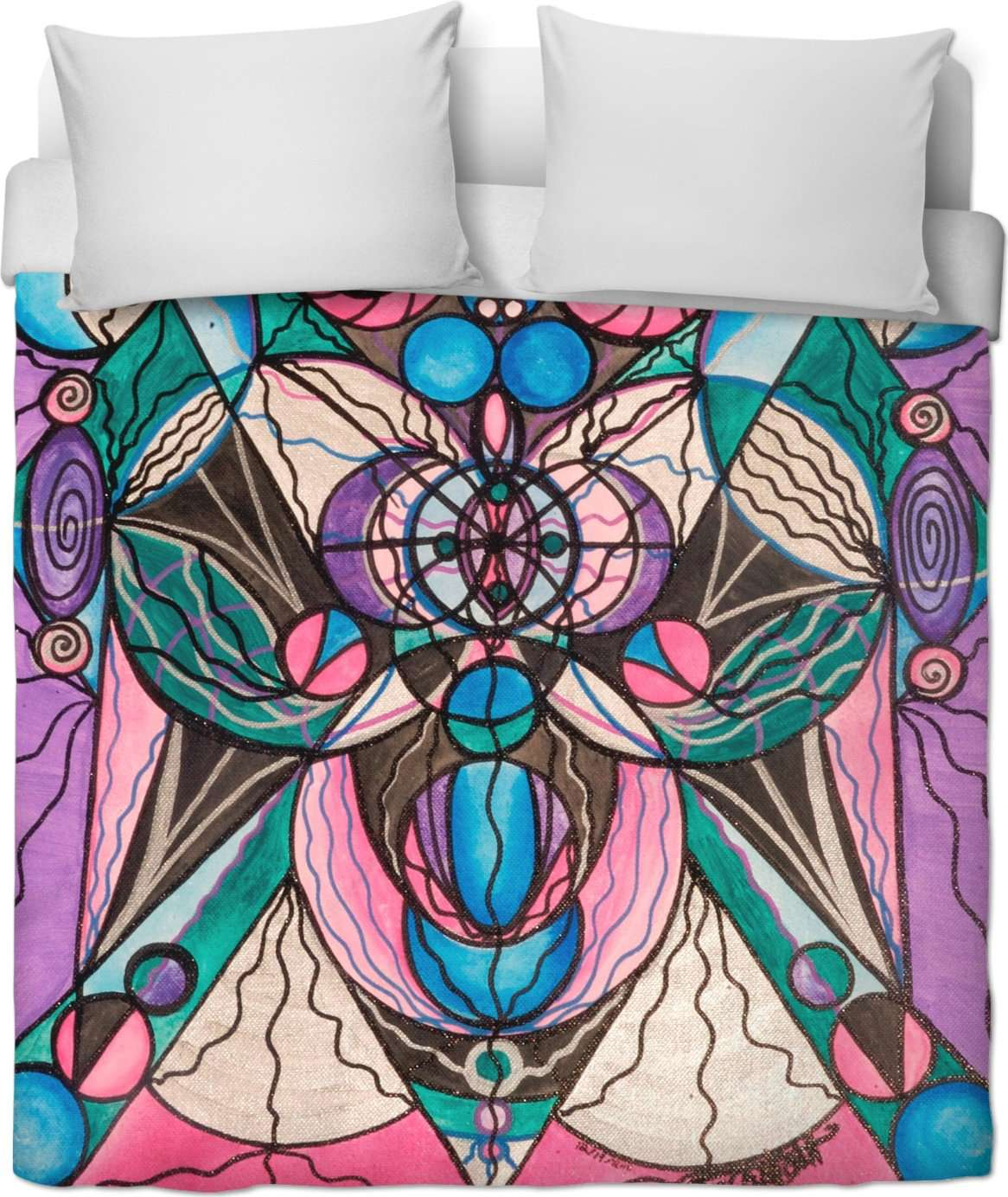 Arcturian Healing Lattice - Duvet Cover