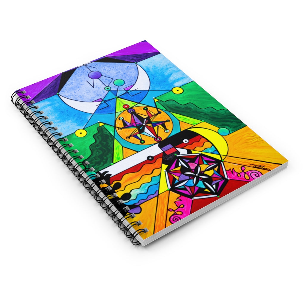 Manifestation Lightwork Model - Spiral Notebook