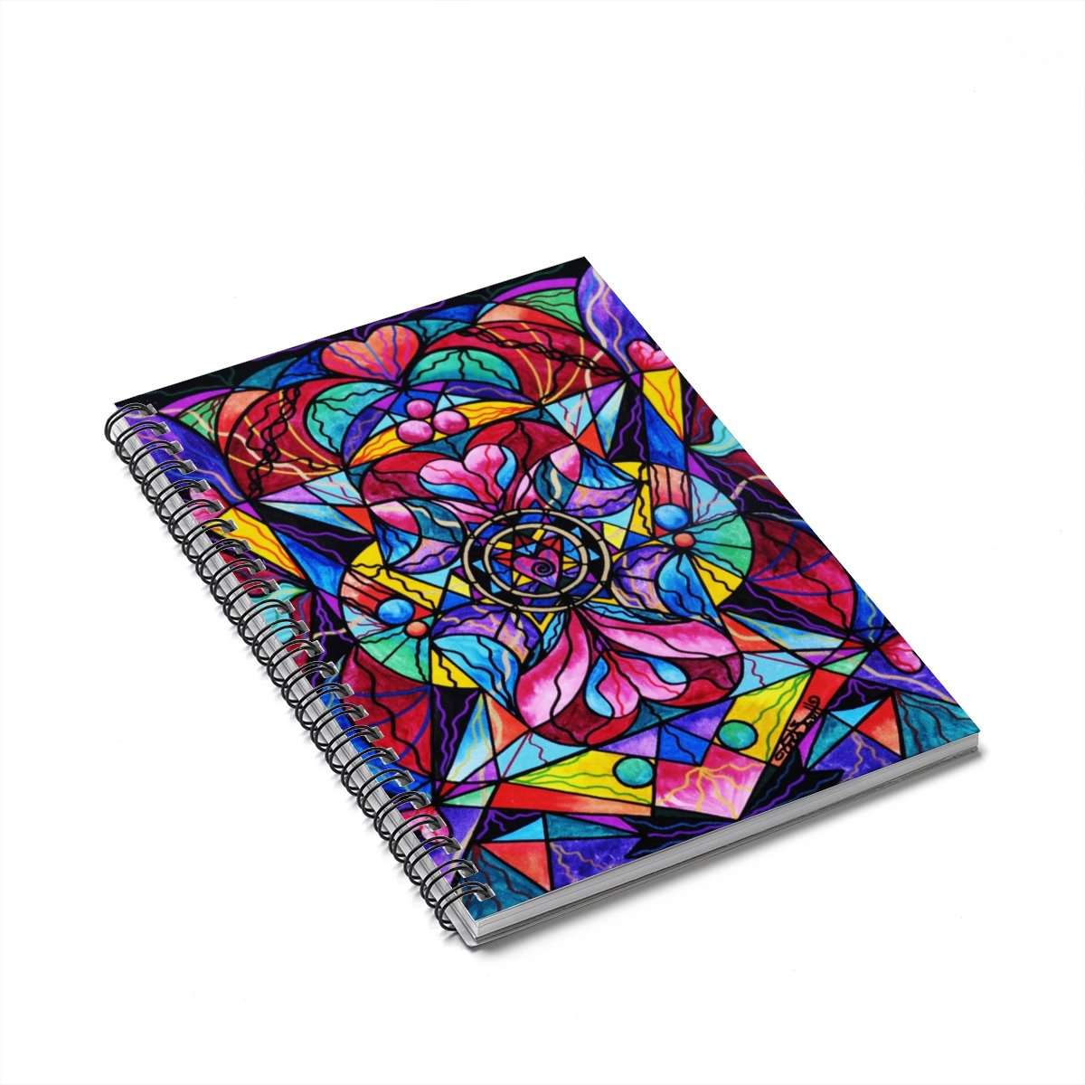 Blue Ray Self Love Grid - Spiral Notebook