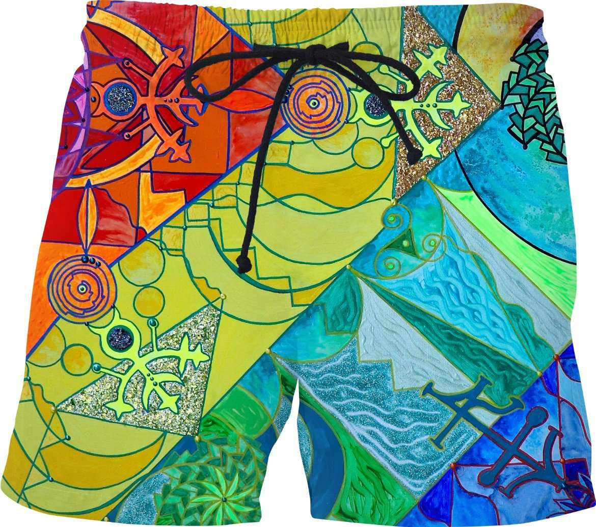 Expansion Pleiadian Lightwork Model - Swim Shorts
