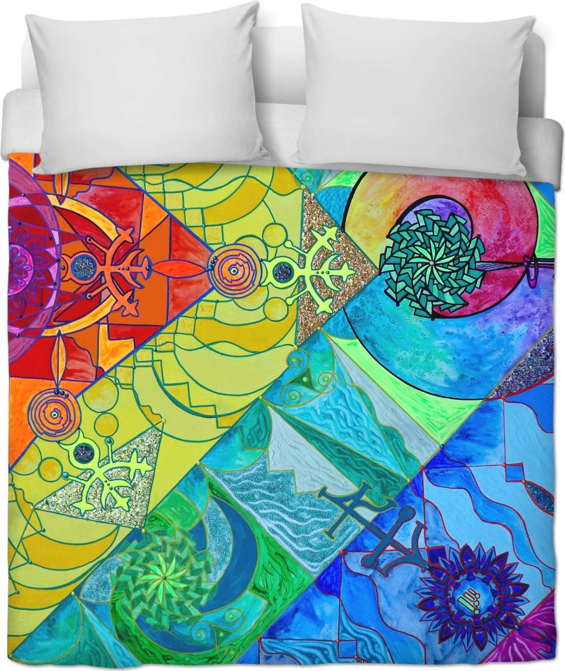 Expansion Pleiadian Lightwork Model - Duvet Cover