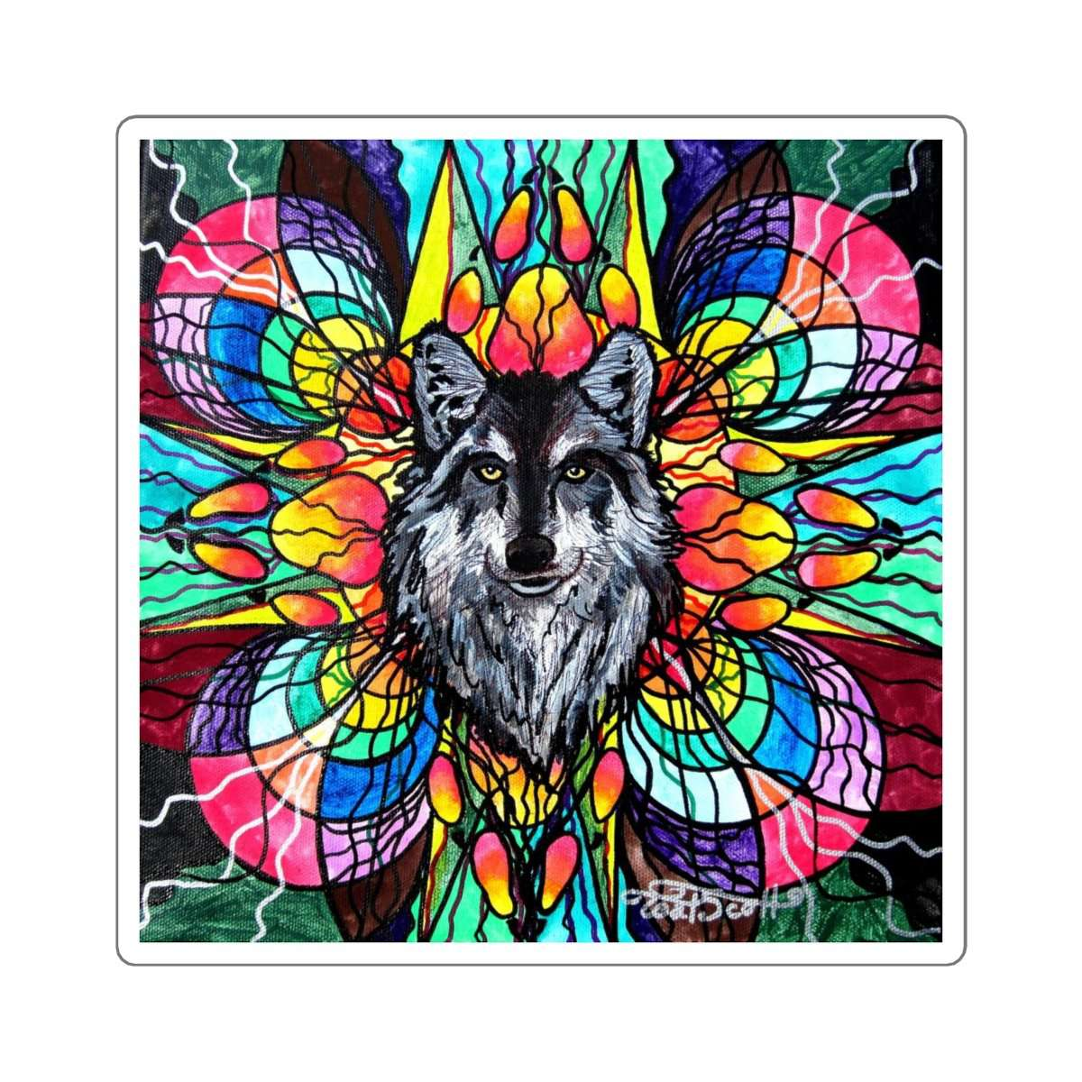 Wolf - Square Stickers